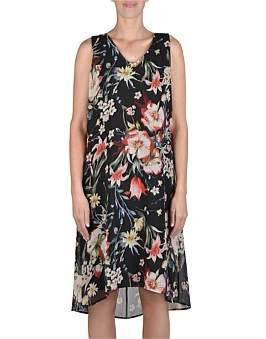 Jump Sleeveless Hi/Lo Floral Dress