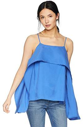 Halston Women's Sleeveless Cami Top with Flowy Drape