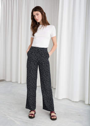 And other stories Micro Floral Print Trousers