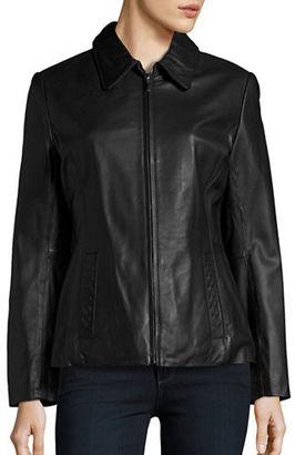 Nautica Genuine Lambskin Leather Jacket $400 thestylecure.com