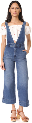 Free People A Line Overalls $128 thestylecure.com