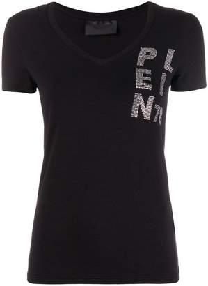Philipp Plein rhinestone logo embellished T-shirt