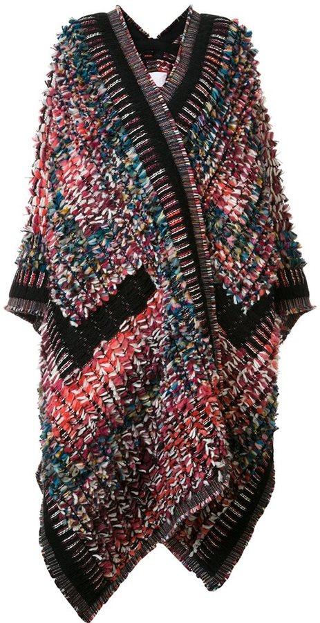 Chloé Chloé knitted boucle blanket coat