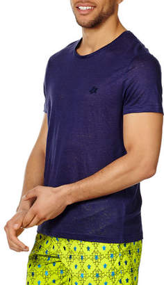 Vilebrequin Men's Crewneck Short-Sleeve Linen Jersey T-Shirt