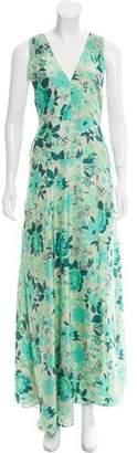 Harare Silk Foliage Print Dress