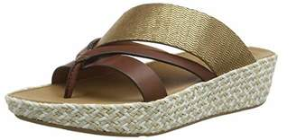 a8ea4b4a88793a FitFlop Women s Abstract Nora Strap Toe Post Open Sandals