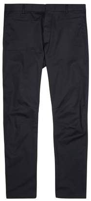 Lanvin Navy Tapered Cotton Biker Trousers