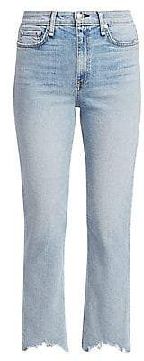 Rag & Bone Women's Nina High-Rise Frayed Cigarette Jeans