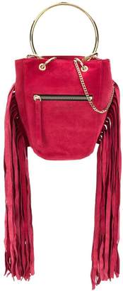 Just Cavalli fringed bucket bag