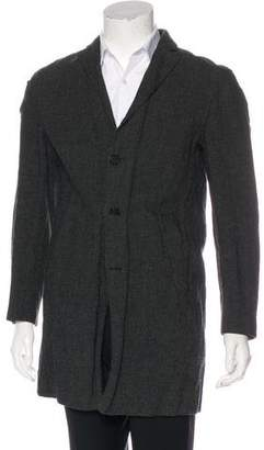 John Varvatos Plaid Wool Coat