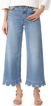 RED Valentino Stone Washed Scallop Hem Jeans $495 thestylecure.com