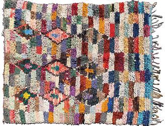 One Kings Lane Vintage Moroccan Cotton Rug - 5'2 x 6'7 - Keivan Woven Arts
