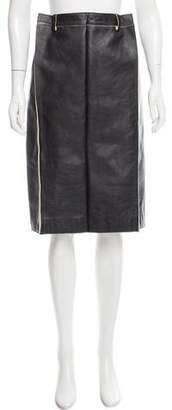 Maison Margiela Knee-Length Leather Skirt w/ Tags