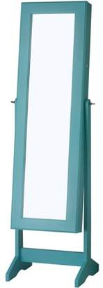 InnerSpace Luxury Products InnerSpace Cheval Free Standing Jewelry Armoire - Turquoise