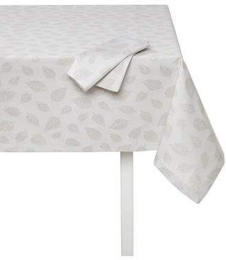 """Mode Living Ivy Tablecloth with Metallic Leaves, 66"""" x 128"""""""
