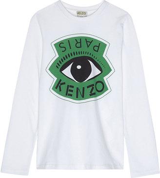 Kenzo Eye print long-sleeved top 4-16 years $49 thestylecure.com