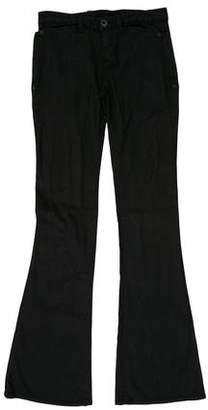 Theyskens' Theory Low-Rise Wide-Leg Pants