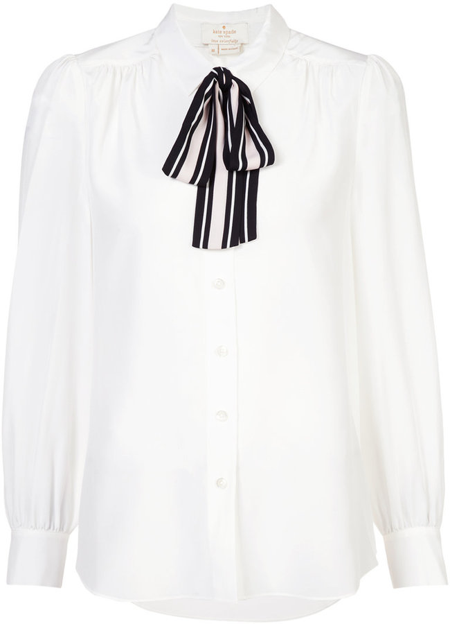 Kate Spade tie front shirt