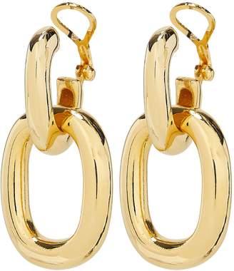Kenneth Jay Lane Polished Gold Doorknocker Earrings