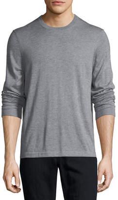 Neiman Marcus Cashmere-Silk Crewneck Sweater