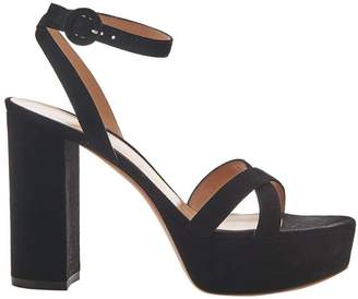 Gianvito Rossi Black 105 Platform Sandals