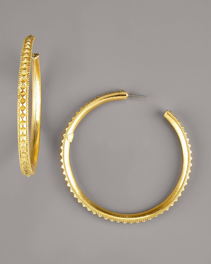 Giles, Mon Amour Spike Hoop Earrings, Large