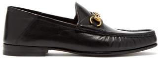 Gucci Horsebit Leather Loafers - Mens - Black