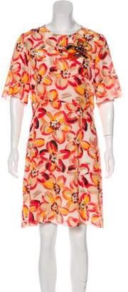 Paule Ka Silk Printed Dress