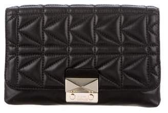 Karl Lagerfeld Quilted Leather Clutch
