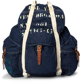 Ralph Lauren Stenciled Denim Backpack