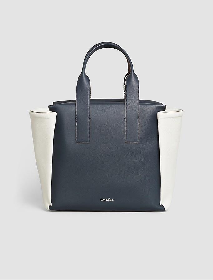 Calvin Klein Tonal Faux Leather Large Tote