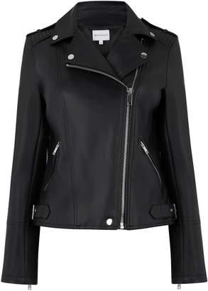 Next Womens Warehouse Black Faux Leather Biker Jacket
