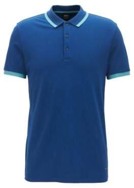 BOSS Hugo Cotton Polo Shirt, Slim Fit Paiy XXL Dark Blue