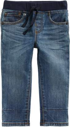 Burberry Check Cuff Pull-On Jeans
