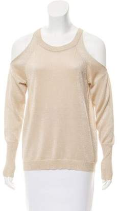 Ramy Brook Cold-Shoulder Wool Sweater
