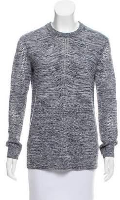 Vince Open-Knit Long Sleeve Sweater