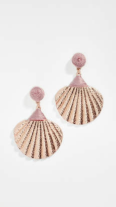 Shashi Gold Shell Drop Earrings