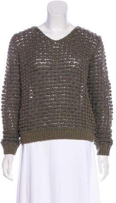 Theyskens' Theory Merino & Alpaca Wool-Blend Open Knit Sweater