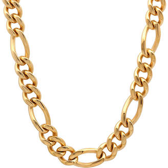 JCPenney FINE JEWELRY Mens Yellow Stainless Steel Figaro Chain
