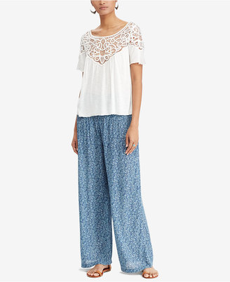 Denim & Supply Ralph Lauren Lace Jersey Top $69.50 thestylecure.com