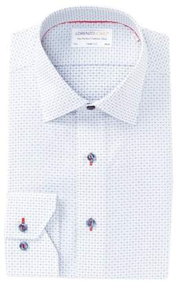 Lorenzo Uomo Textured Dobby Trim Fit Dress Shirt