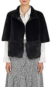 Barneys New York Women's Fur Crop Short-Sleeve Coat - Black