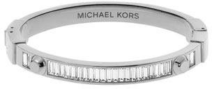 Michael Kors Astor Baguette Hinge Bangle, Silver Color