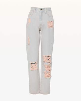 Juicy Couture JXJC Pink Pigment Distressed Girlfriend Jean