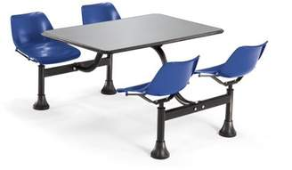 """OFM Model 1004 Cluster Seating Table with 24"""" Stainless Steel Top and Navy Seats"""