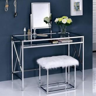 Furniture of America Shari Contemporary 2-Piece Vanity Set, Multiple Colors