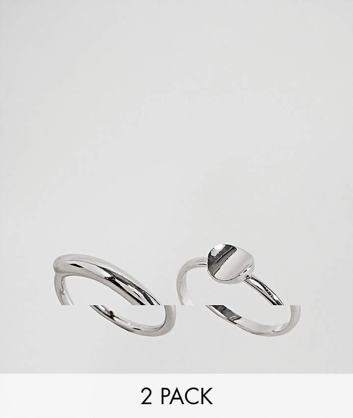 Limited Edition – Set mit 2 Ringen in abgerundeten Steg- und Scheibendesigns