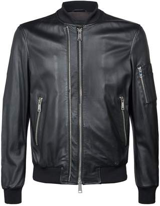 Emporio Armani Eagle Leather BomberJacket