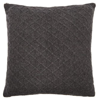Allude Cable Knitted Cashmere Cushion - Dark Grey