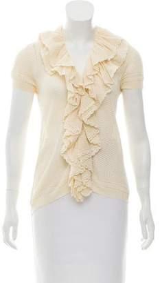 Ralph Lauren Black Label Silk-Blend Open-Knit Top